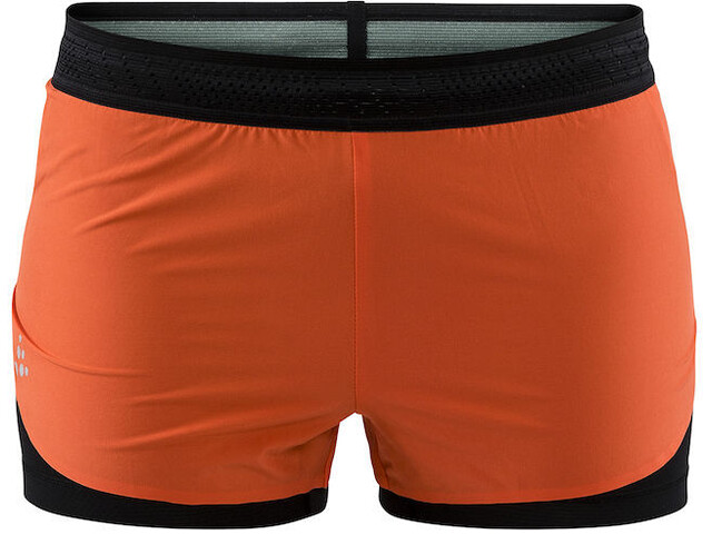 Craft Nanoweight Hardloop Shorts Dames oranje/zwart